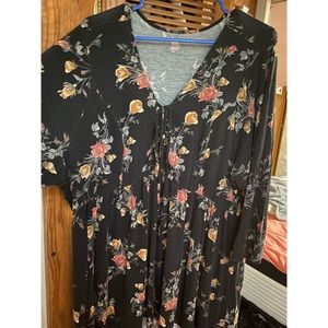 TORRID SUPER SOFT KNITS FLORAL TUNIC